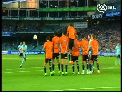 Alessandro  Del Piero Goal Sydney FC Vs Brisbane Roar