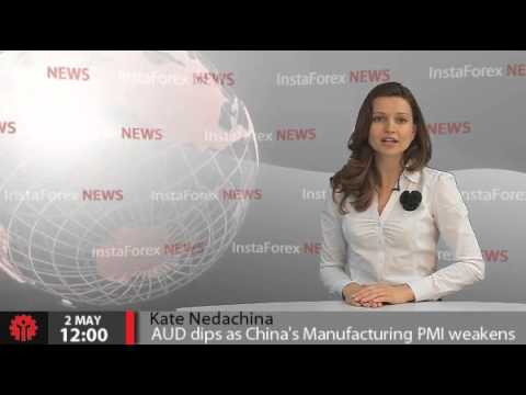 InstaForex News 2 May. AUD dips as China's Manufacturing PMI weakens