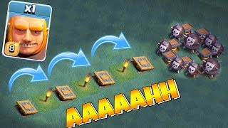 "PUSH TRAP TROLL 2 ""Clash Of Clans"" NEW GIANT EVENT!"