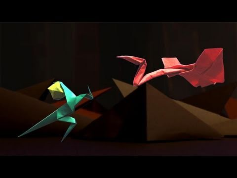 diy stop motion video origami movie