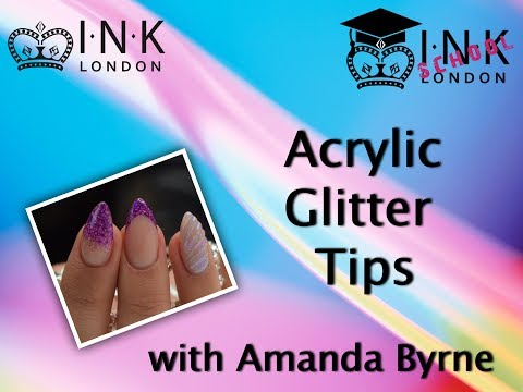 How to create an Acrylic Glitter French with Amanda Byrne