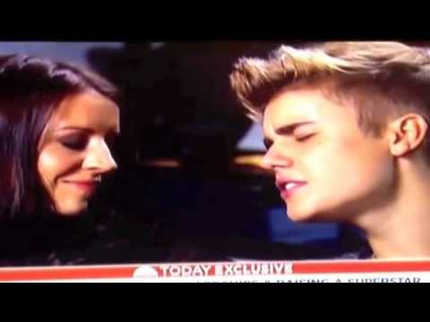 Justin Bieber Singing Turn To You To Pattie