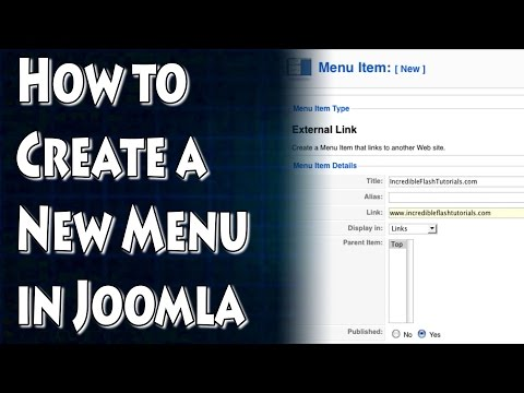 Joomla Tutorial: How To Make a New Menu
