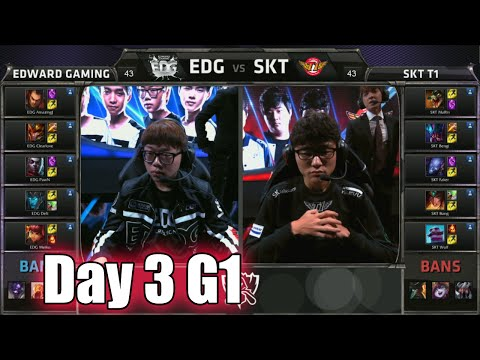Edward Gaming vs SK Telecom T1 | Day 3 Game 1 Group C S5 World Championship 2015 | EDG vs SKT D3G1
