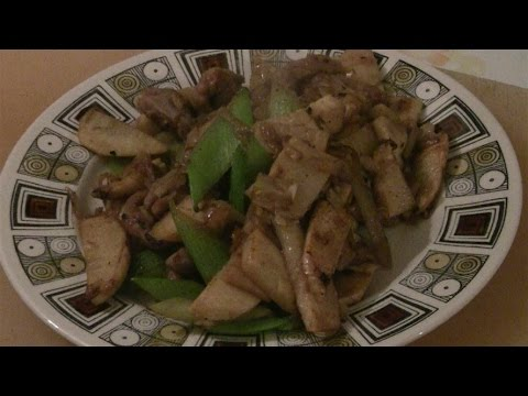Stir Fry Bamboo Shoots With Pork (Wok Cooking)  Traditional Chinese Cooking