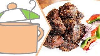 Nigerian Small Chops 3: Nigerian Asun (Peppered Goat Meat)