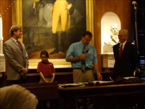Doug Bergman, Porter-Gaud School, honored at Charleston, SC City Council Meeting.
