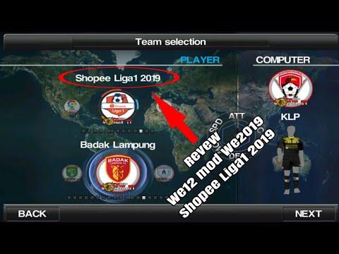 WE2012 mod WE2019 Update Shopee Liga1 2019!... Review!... #1