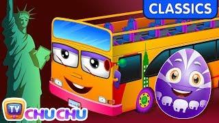 ChuChu TV Classics - Wheels On The Bus - New York City | Surprise Eggs Nursery Rhymes