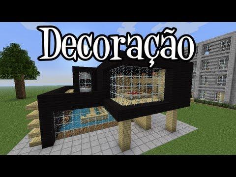 Tutoriais Minecraft: Decoraçao da Casa Moderna 3