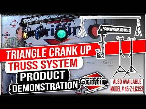 Griffin Triangle Crank Up Truss Stand Lighting System Product Review and Demonstration Model LK353