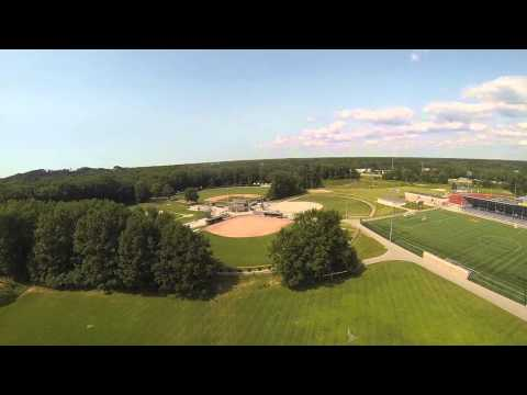 Grand Haven High School from a Quadcopter