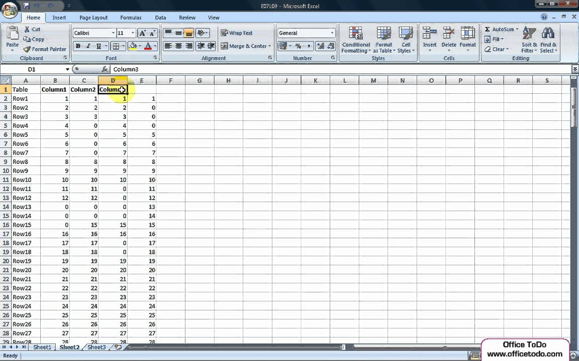 how to make excel column not move