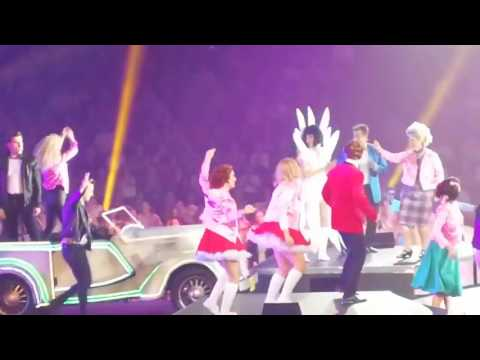 Dami Im in the finale of Grease The Arena Experience