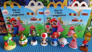 2016 Super Mario Toys Complete Set in Happy Meal McDonalds Europe Unboxing