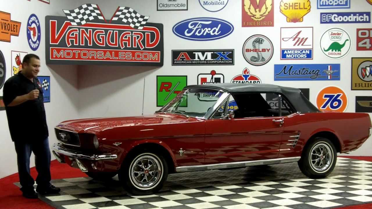 1966 Ford Mustang C Code Convertible Classic Muscle Car For Sale In Mi Vanguard Motor Sales