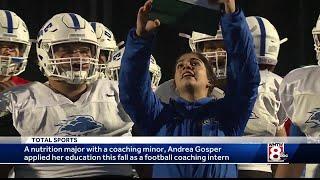 Gosper breaks gender barrier in season on the sidelines at UNE
