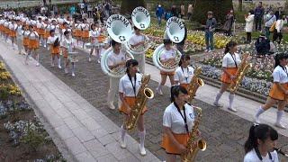 2018年04月15日 京都橘高校吹奏楽部 ブルーメンパレード 午後の部 滋賀県 滋賀農業公園ブルーメの丘
