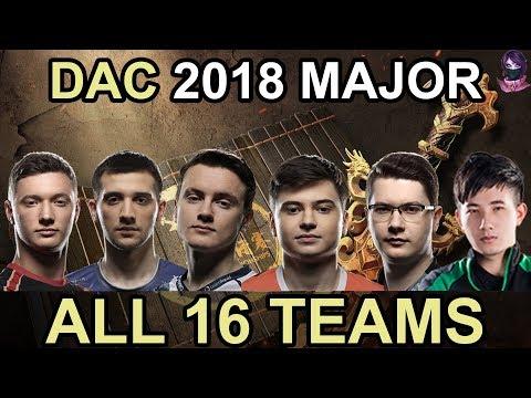 DAC 2018 ALL 16 Participating Teams Highlights Dota 2 by Time 2 Dota #dota2
