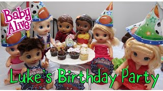 BABY ALIVE Lukes Birthday Party,Pianta ,Cake,dancing And Fun baby alive videos