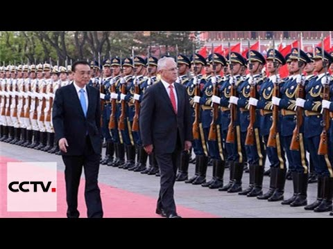 Li Keqiang se reúne con su homólogo de Australia en Beijing
