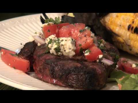 Grilled Beef Tenderloin with Tomato