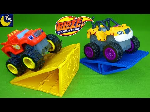 Blaze and the Monster Machines Off Road Motorized Truck Blaze & Stripes Traction Balance STEM Toys