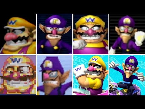 Evolution of Wario & Waluigi in Mario Kart Games (1996-2017)