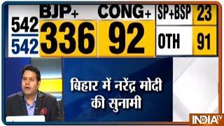 Opposition swept away under Modi wave, BJP leads on 22 seats in Bihar