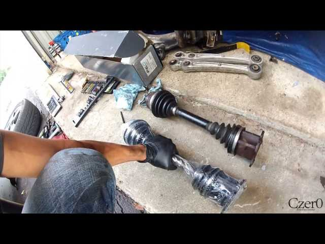 How to: Replace Axles on Audi A4, A6, A8 VW ... - YouTube