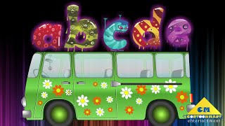 ABC Song for Kids - Nursery Rhymes - Hippie Van  Monsters Alphabet Letters A-Z