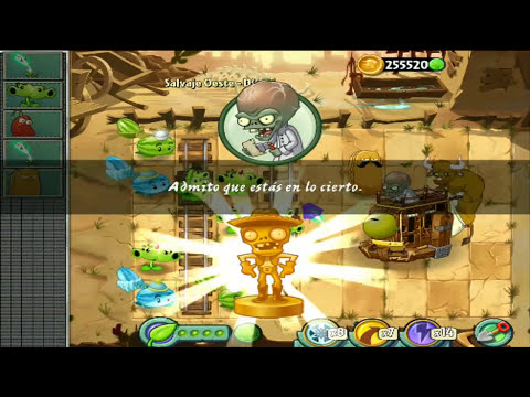 Plants vs Zombies 2 (Dr. Zomboss) - [Wild West / day 25] - [Salvaje Oeste / dia 25]