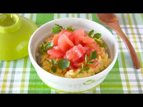 Creamy Scrambled Eggs and Tomato Rice Bowl (Recipe) ヘルシー美肌丼 (レシピ)