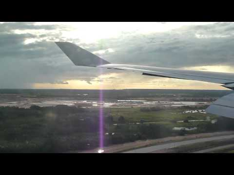 Malaysia Airlines MH1 LHR - KUL landing at KLIA