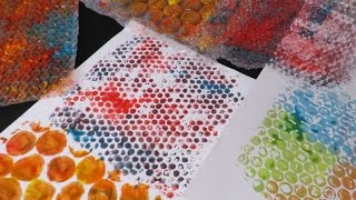 PRINT WITH BUBBLE WRAP | Fatema's Art Show