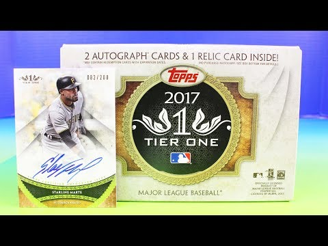 Topps Tier One 2017 Pack Box Break Signed Cards Jersey Baseball Cards