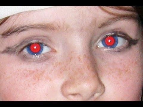 Как убрать на засвеченные глаза