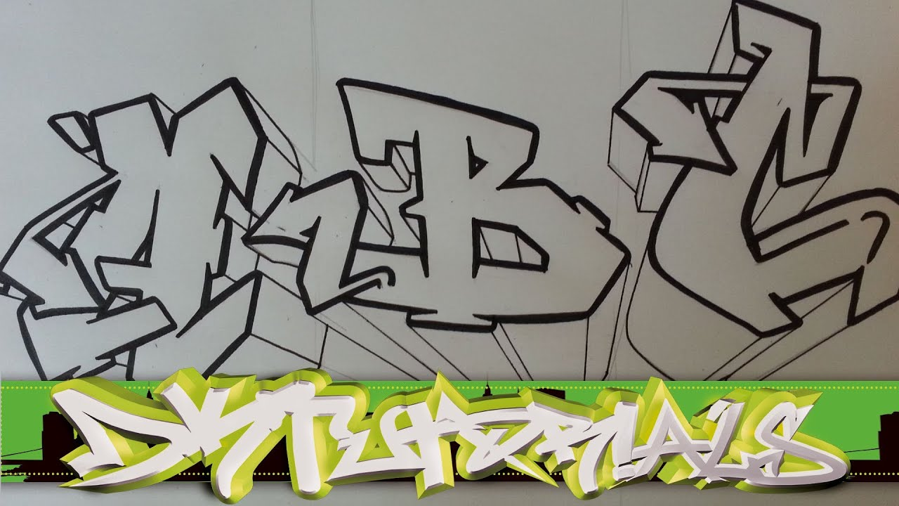 How to draw graffiti wildstyle graffiti letters abc step by step youtube - Graffiti abc letters ...