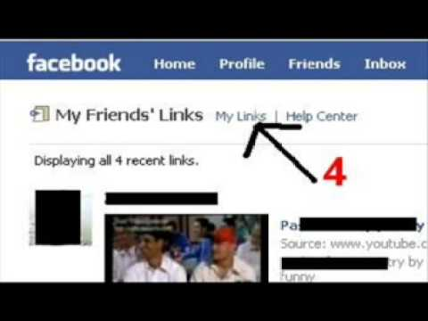 How to remove delete Links from Facebook