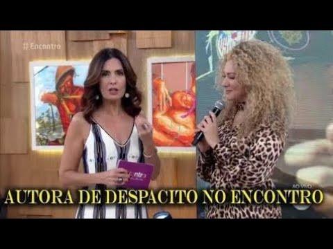 Fátima Bernardes recebe Erika Ender coautora de Despacito com Luis Fonsi 'Encontro'
