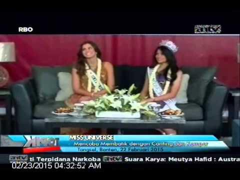 [ANTV] TOPIK, Miss Universe Coba Membatik Dengan Canting & Kompor