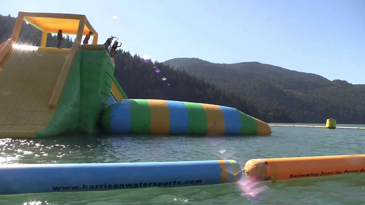 Outdoor Floating Water Park On Harrison Lake YouTube