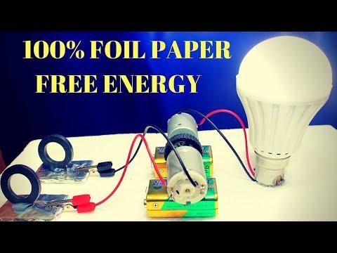 100% Free Energy Light Bulb Using Foil Paper - Foil Paper Free Energy Using Magnet thumbnail