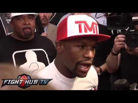 Mayweather vsMaidana scrum Mayweather is looking for the KO Khan Broner  Hopkins