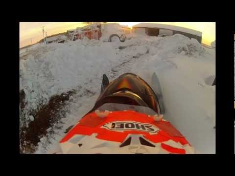 Snowmobiling on 12-22-12 with 05 Arctic Cat F6