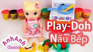 Đồ Chơi Nấu Bếp Play-Doh, Làm Đồ Ăn Bằng Đất Nặn - Gà rán Play Doh - AnhAnhchannel