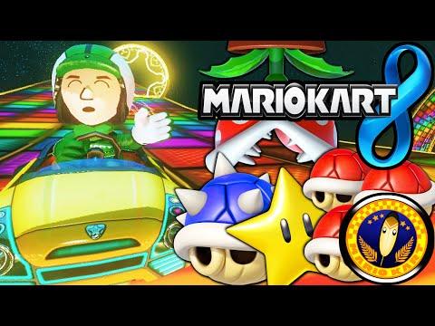 Mario Kart 8: FRANTIC ITEMS! Feather Cup Tournament Mii Gameplay Walkthrough PART 24 Wii U HD