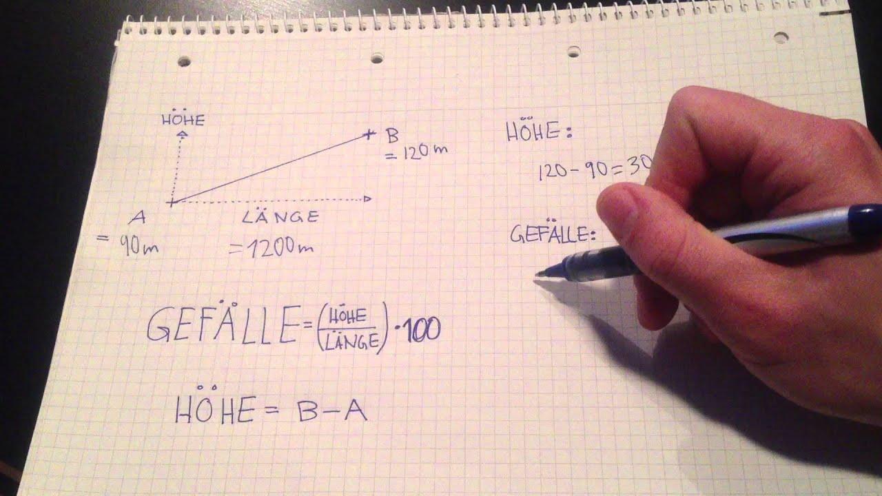 Berechnung prozent
