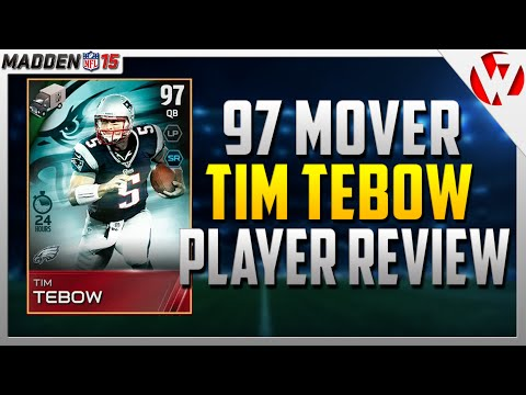 Madden 15 24HR 97 TIM TEBOW REVIEW w/ Gameplay - Madden 15 Player Review