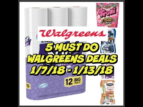 5 MUST DO WALGREENS DEALS 1/7/18 - 1/13/18 | AWESOME DEALS!